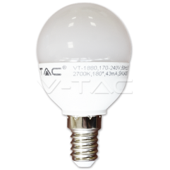 LED spuldze - LED Bulb - 6W E14 P45 Warm White